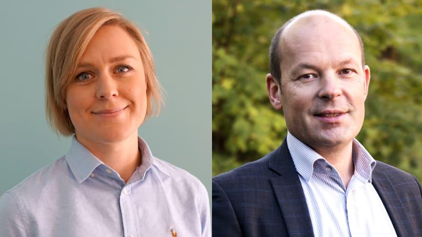 Johanna Brolin, Projektledare på Svensk Byggtjänst, och Jan-Olof Edgar, Utvecklingsstrateg på Svensk Byggtjänst, medverkar på smyglanseringen av AMA Funktion den 5 maj.