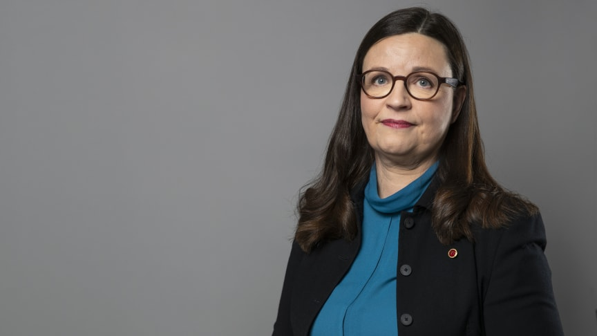 Anna Ekström på Stora Infradagen 2020:  Yrkestekniska utbildningar ska prioriteras men branschen måste tända glöden