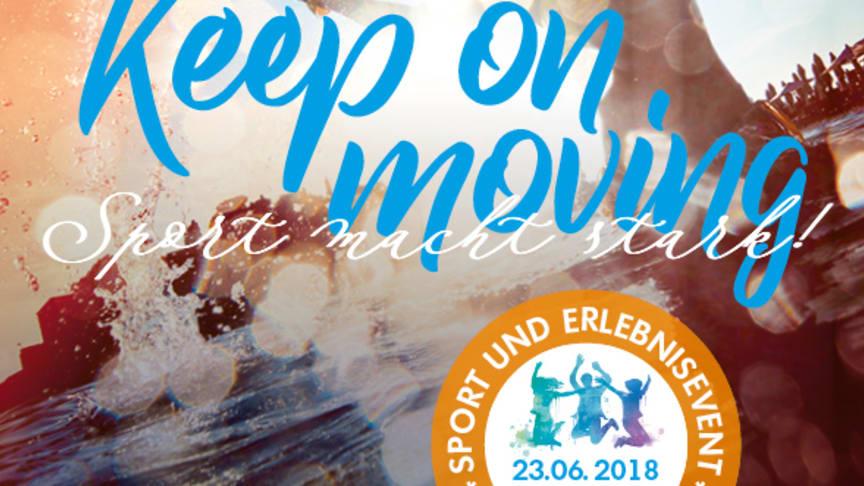KEEP ON MOVING Sport und Erlebnisevent am Pilsensee, Juni 2018