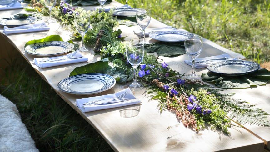 Dukat bord som ingår i kampanjen The Edible Country, foto: Anna Hållams
