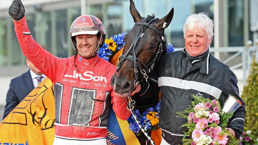 Johan Untersteiner, Jerry Riordan och Aetos Kronos efter segern
