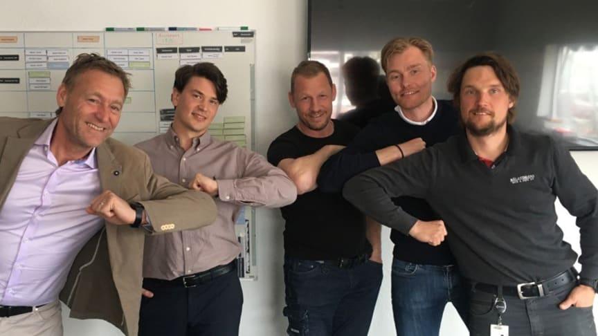 Mikael Karlsson, Martin Jacobsson, Niclas Proos, Daniel Svensson och Fredrik Johansson