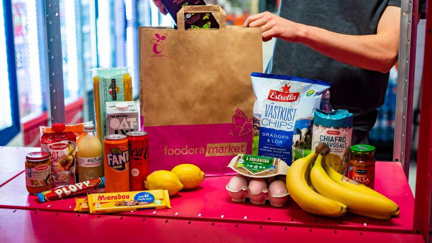 foodora startar fler hybridbutiker - ytterligare en foodora market öppnas imorgon