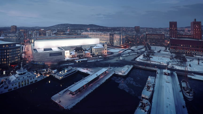 Det nye Nasjonalmuseet. Foto: MIR (illustrasjon) /Statsbygg