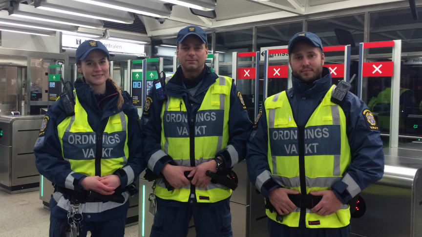 Mariah, Jimmy och Jim arbetar med trygghet i uppdraget åt SL.