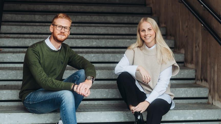 Adam Kihlberg, teknik- och produktutvecklingschef, och Linda Carlsson, VD Timratec.