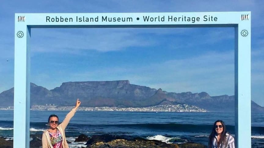 Charlotte Hall and Rosie Willan on their travels in South Africa