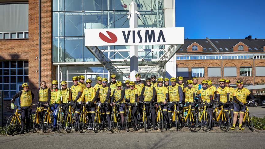 Foto: Visma PR / Team Rynkeby Nordsjælland ved Visma Software på Langebrogade, København