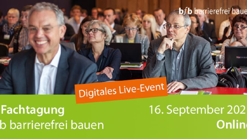 6. Fachtagung bfb barrierefrei bauen – digitales Live-Event