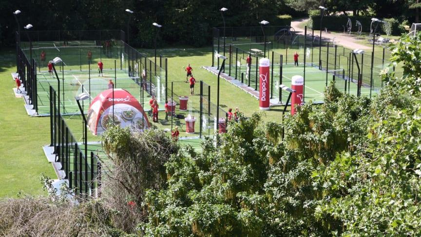 Danpo Padel Tennis med 4 stk mobile padelbaner