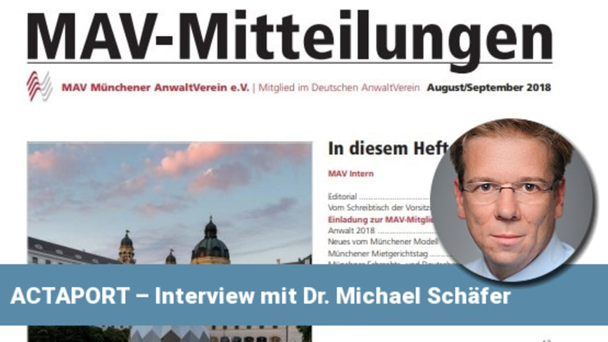 dokSAFE im Interview mit MAV Münchener AnwaltVerein e.V.