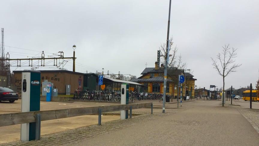 CLEVER laddstationer vid Ängelholms Centralstation