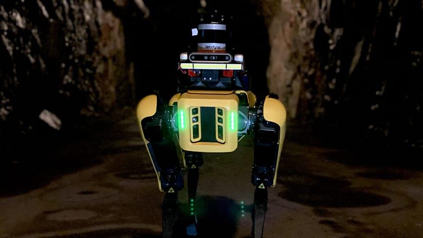 "Universitetets nya ""robothund"" Spot."