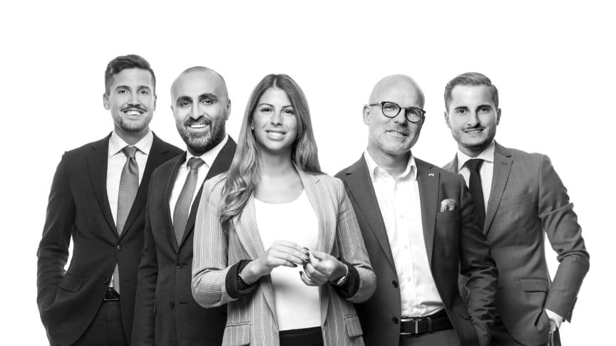 Sebastian Scherdin, Siyar Hamidanoglu, Jessica Toubal, Jim Palmquist och Ramzi Hamam.