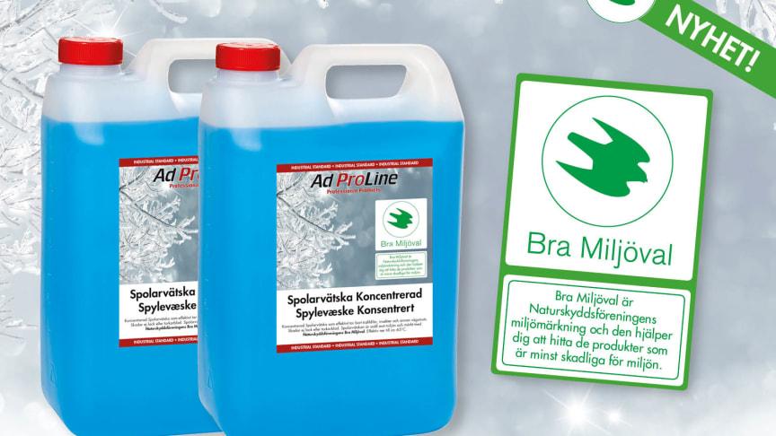 AdProLine® Spolarvätska miljömärkt enligt Naturskyddsföreningens märkning, Bra Miljöval.