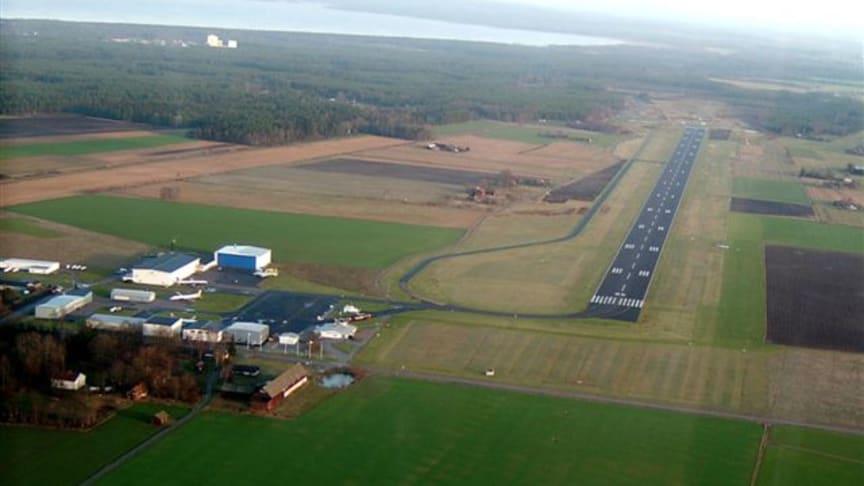 Solcellspark kan byggas på Lidköpings Flygplats