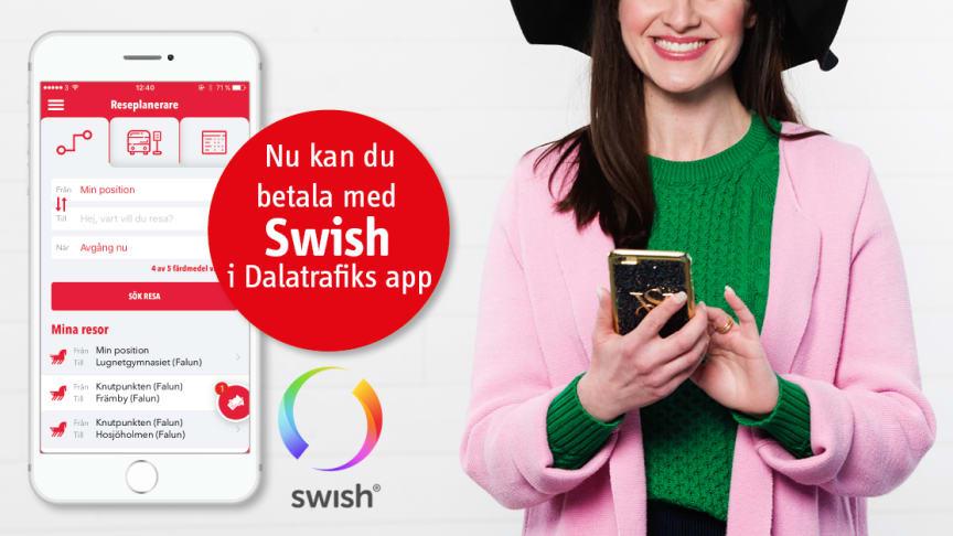 Betala med Swish i appen från 10 december!