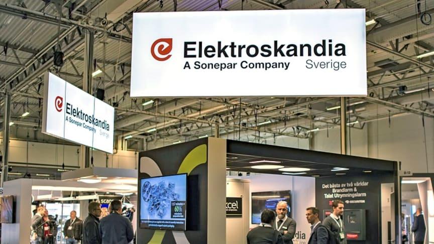 Elektroskandias monter på Elmässan i Kista, hösten 2019
