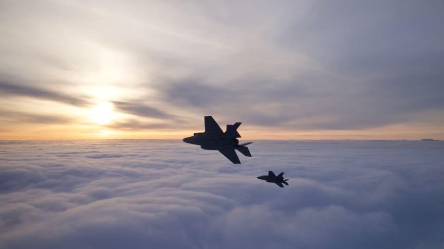 To norske F-35 Foto: Morten Hanche / Forsvaret