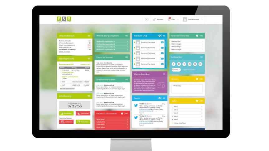 Screenshot E & R-Mitarbeiterportal