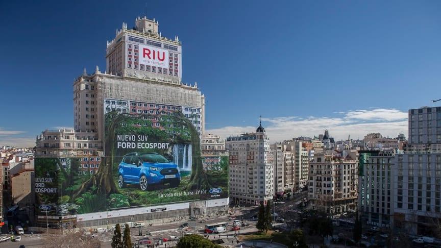 Verdens største billboard er nu at finde i Madrid, Spanien.