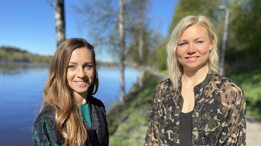 Maria Olofsson och Magdalena Lindström från Uminova Innovation programleder.