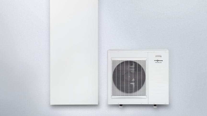 Nya prisvärda luft/vatten split 4 - 10 kW med inverter från Viessmann