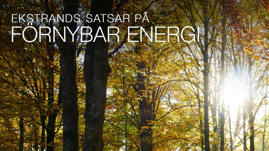 Ekstrands satsar på förnybar energi
