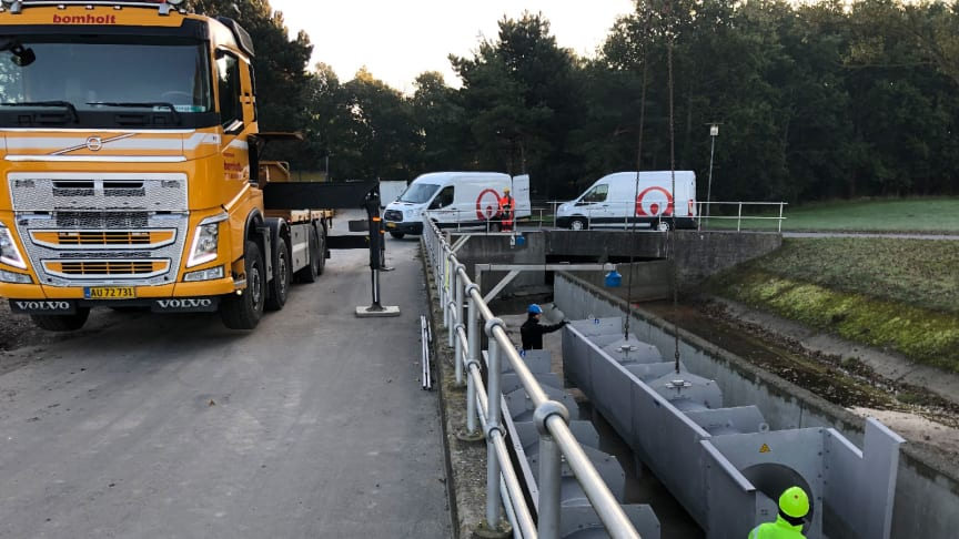Krüger installerer Danmarks største riste til at rense nødoverløbsspildevand