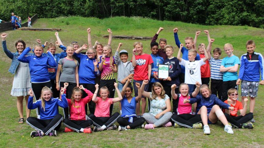 JUBEL: Støren barneskole er Årets klimaskole 2016 (Foto: Enova)