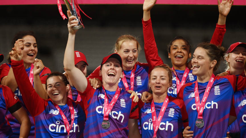England Women won the Vitality IT20 series 2-1. Photo: Getty Images