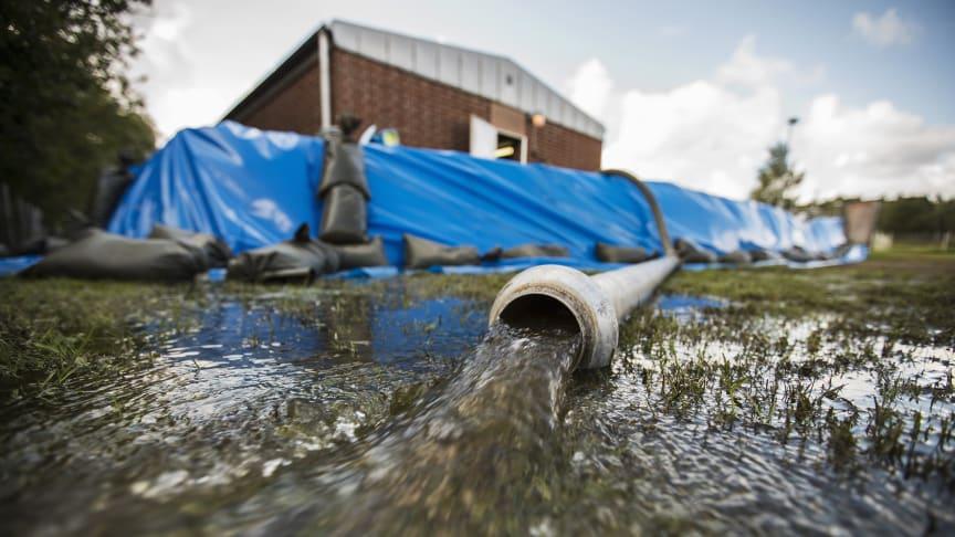 MSB har beslutat att översvämningssituationen i Hallands, Blekinge och Kronobergs län ska utredas. Foto: MSB/Johan Eklund