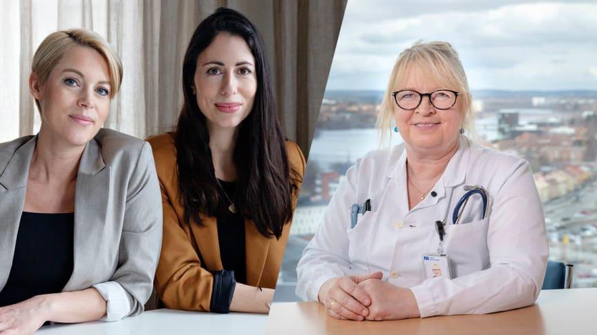 Sara Wimmercranz och Susanne Najafi hos Backing Minds och Helena Fordell, forskare och grundare av Brain Stimulation.