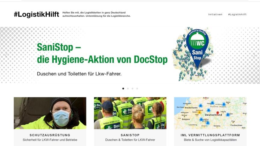 Unter www.aktion-logistikhilft.de können Logistikunternehmen ab sofort Schutzausrüstung zu Vorzugskonditionen bestellen.