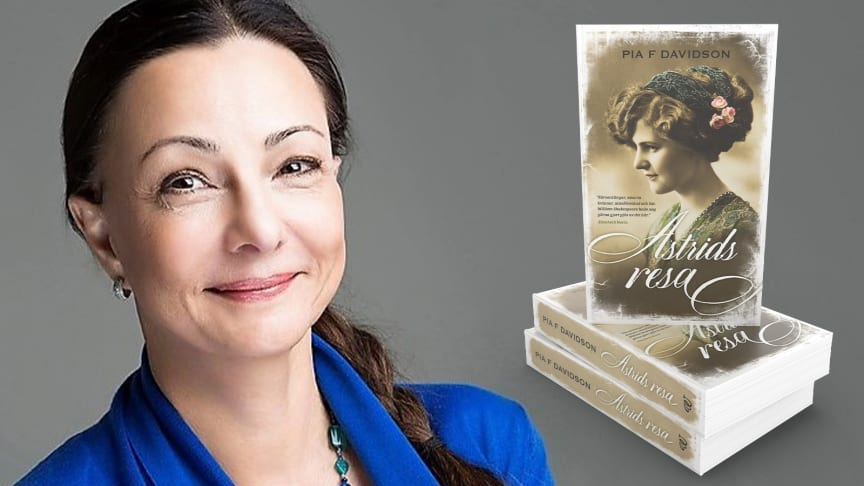 "Pia Davidson intervjuas i samband med sin nya bok ""Astrids resa""."