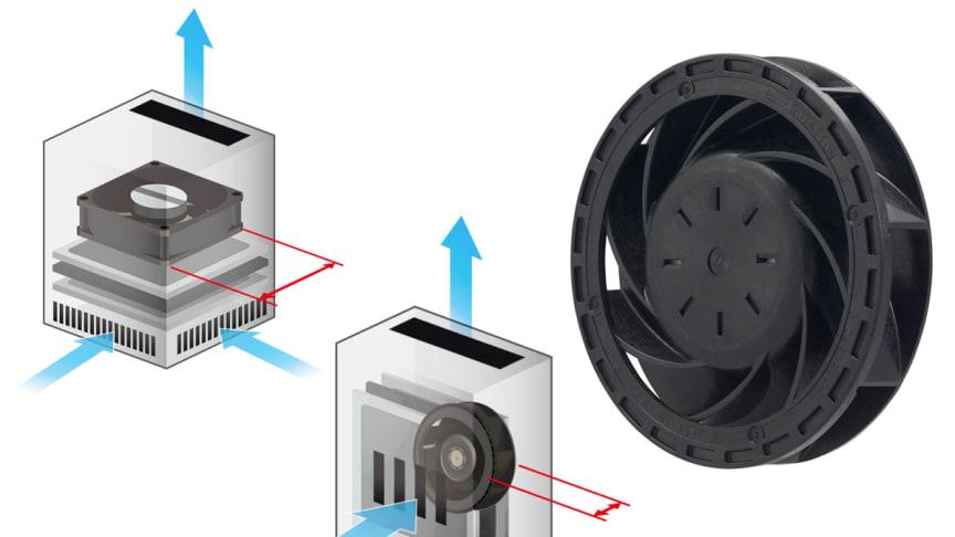 Kompakt och tunn centrifugalfläkt från Sanyo Denki