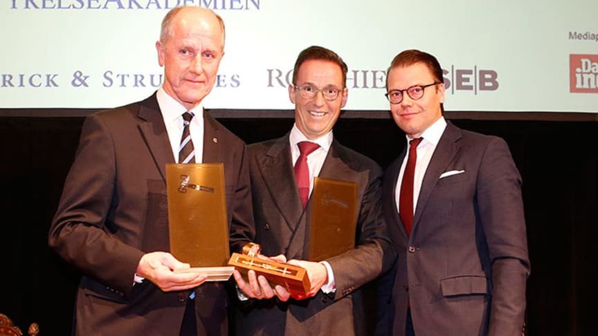 Guldklubban 2014: Tomas Billing och Bob Persson erhöll utmärkelsen av Prins Daniel
