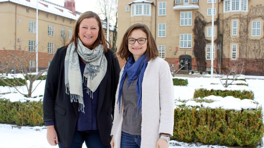 Marina Jogmark och Alina Lidén, båda universitetslektorer i företagsekonomi vid Högskolan Kristianstad.