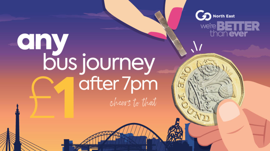 Go North East launches £1 evening fare offer to help give local economy a boost
