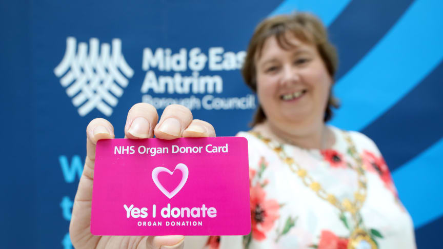 Mayor of Mid and East Antrim, Cllr Maureen Morrow urges the borough's residents to sign up this Organ Donation Week