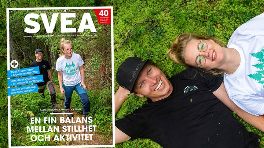 Följ med till Ragnerudssjöns Camping och Stugby i senaste numret av tidningen SVEA. Foto: Daniel Stiller / Bildbyrån
