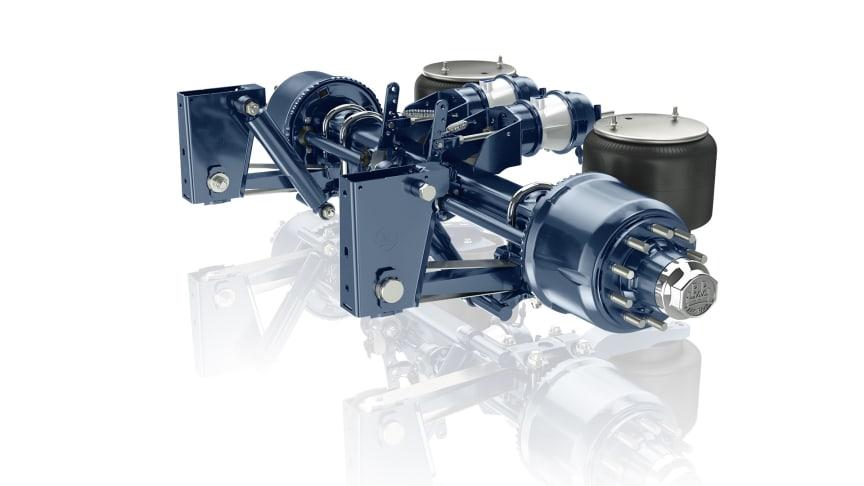 12 Tonnen Airlight II Luftfedermodul für Tieflader-Anwendungen.