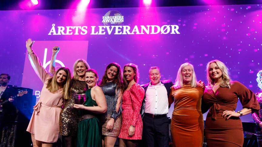 6 Fargerike Awards ble delt ut, og Borge ble «Årets Leverandør 2019».