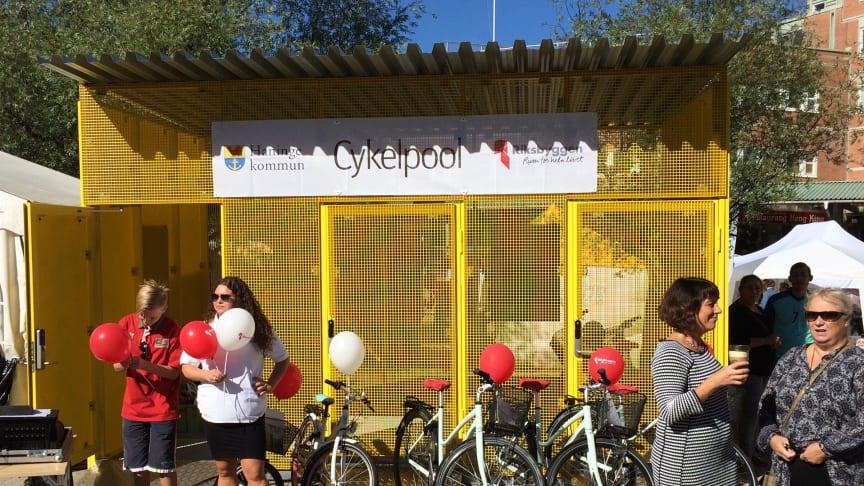 Nu öppnar Riksbyggen cykelpoolen i Haninge för säsongen!
