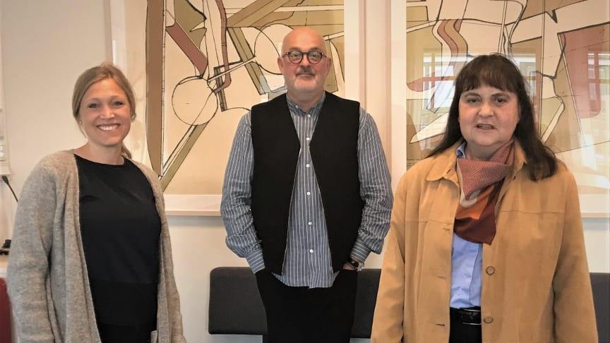 På bilden från vänster är Ylva Narby, specialistpsykolog, Hans Brauer, verksamhetschef och Anna Nyhlén, överläkare – alla verksamma vid NPKT, vuxenpsykiatri Malmö/Trelleborg