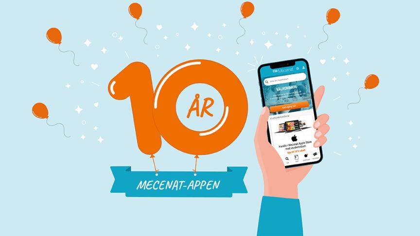 Mecenat-appen fyller 10 år