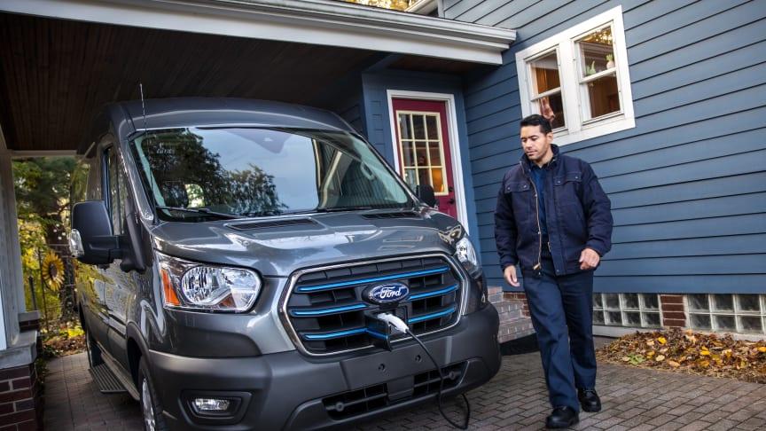 Nye Ford E-Transit vil få helt nye løsninger for flåtestyring av kjøretøy