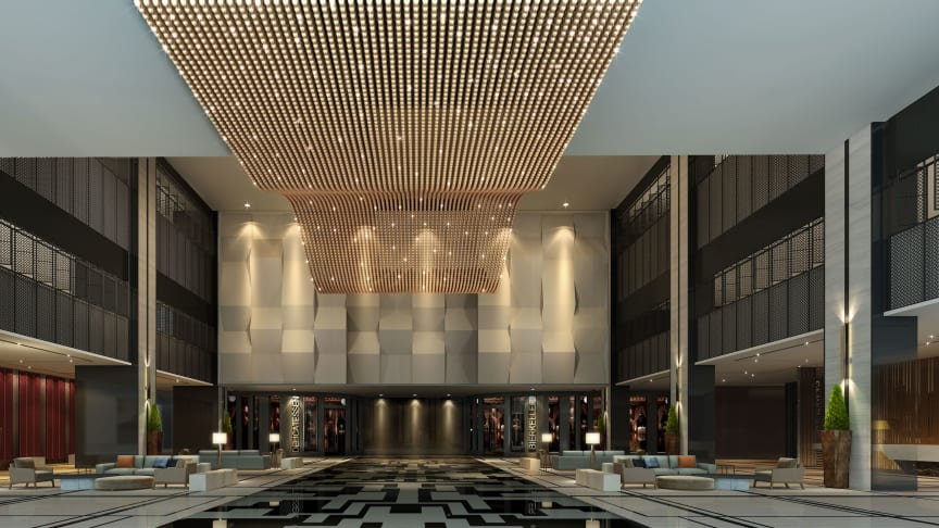 Impressive Lobby area: The new Maritim Hotel Hefei is the area's most modern hotel. Soaring 54 floors above street level, this stunning example of Bauhaus design located between the Yangtze and Huai rivers is a real eye-catcher.