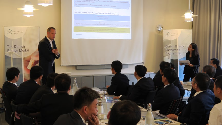 A delegation from China's National Energy Administration and representatives from 16 selected thermal power plants are visiting Denmark to learn from the Danish experiences on regulating electricity production within CHP plants.