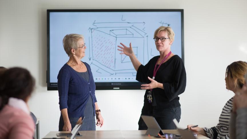 Bodil Renlund och Thyra Brusewitz, lärare på Sfinx i Järfälla Kommun.